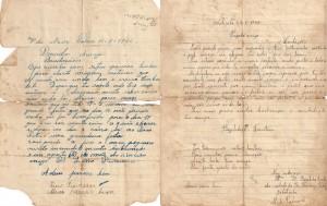 As duas primeiras cartas trocadas pelo casal, tenho a coleção toda, exceto uma que não chegou ao destino.
